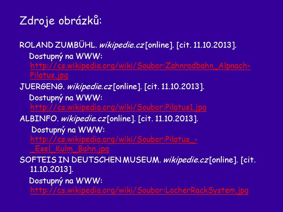 Zdroje obrázků: ROLAND ZUMBÜHL. wikipedie.cz [online].