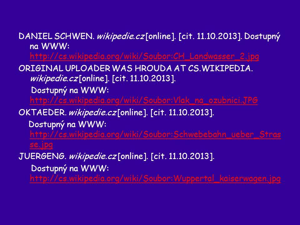 DANIEL SCHWEN. wikipedie.cz [online]. [cit. 11.10.2013].