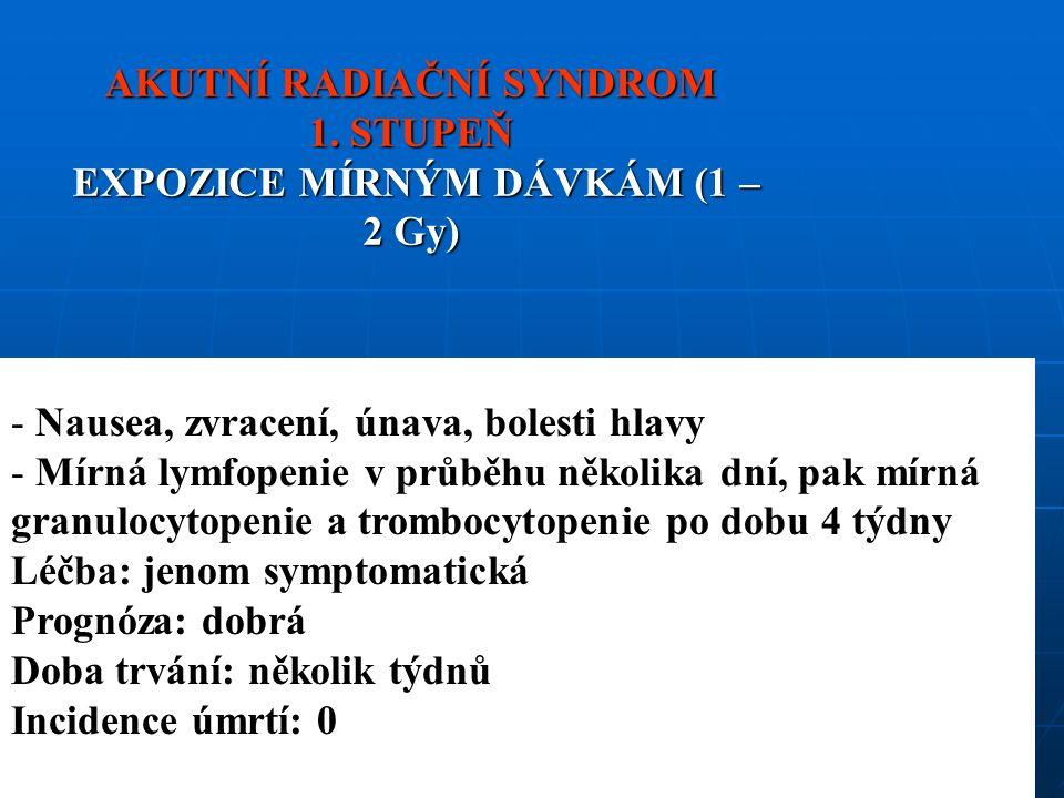 AKUTNÍ RADIAČNÍ SYNDROM 1.