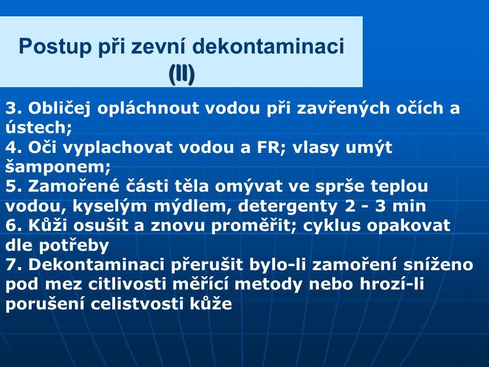(II) Postup při zevní dekontaminaci (II) 3.