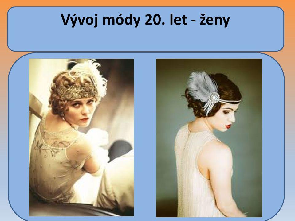 Účesy mužů 20.léta Muži využívali praktickou módu krátkých střihů.