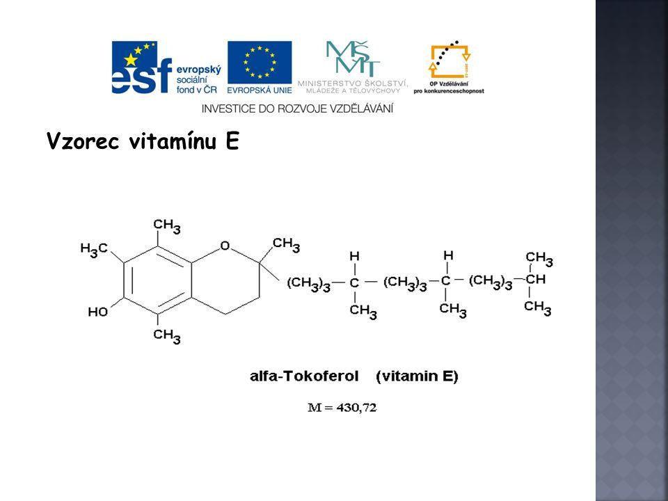 Vzorec vitamínu E