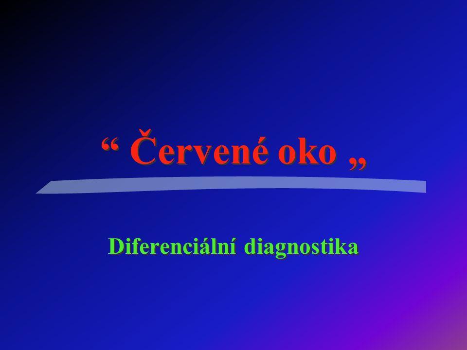 """Červené oko """" Diferenciální diagnostika"""
