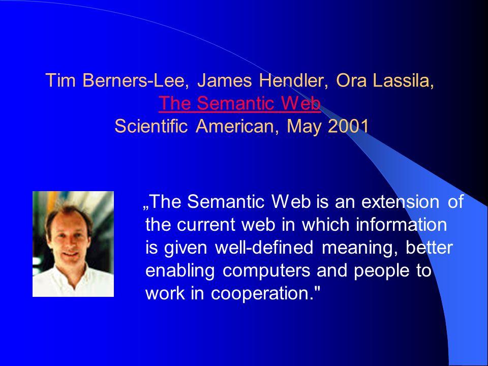 """""""Sémantický web představuje pro internet asi takový přínos jako katalogizace knih pro knihovnu JW Klasifikace podle autora Klasifikace dle názvu Uspořádání dle oblastí"""