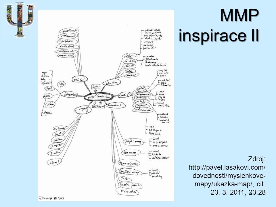 MMP inspirace II 8 Zdroj: http://pavel.lasakovi.com/ dovednosti/myslenkove- mapy/ukazka-map/, cit.