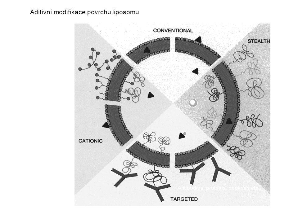 Aditivní modifikace povrchu liposomu