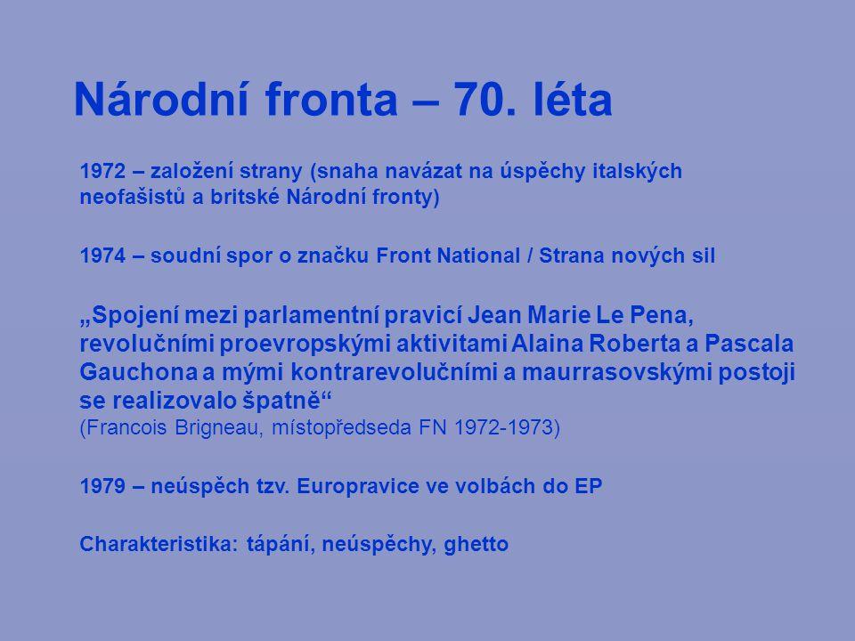 Národní fronta – 70.