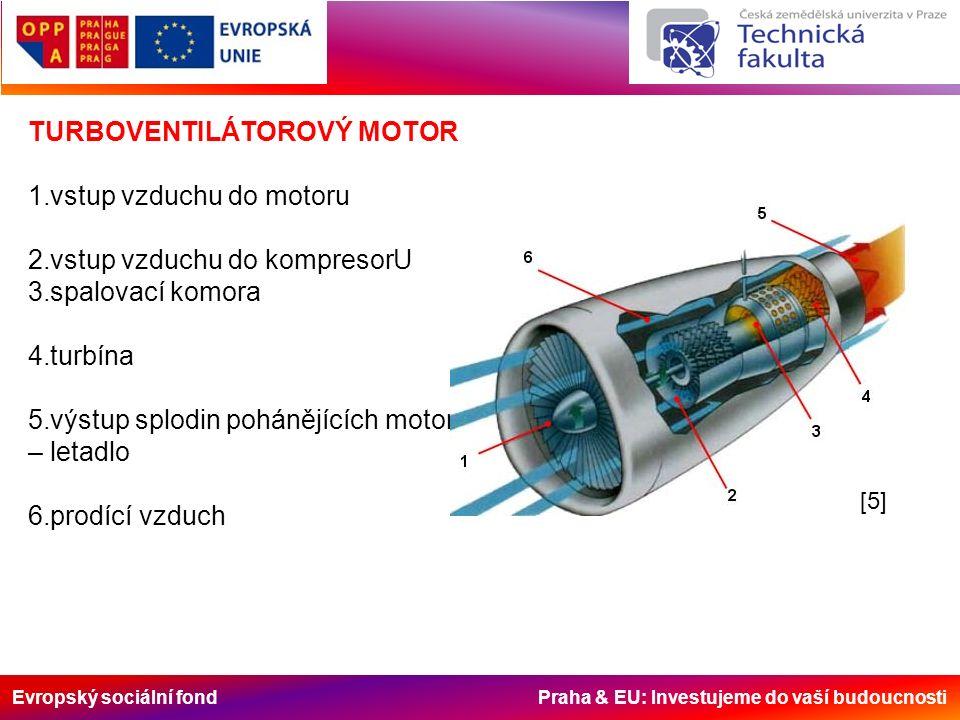 Evropský sociální fond Praha & EU: Investujeme do vaší budoucnosti -v posledních letech se konstruktéři i v případě leteckých pohonů zabývají, především s ohledem na závislost na ropných zdrojích, alternativami leteckých paliv; -v prvé řadě se jedná o vodík, jehož širší využití není ekonomické, dále to je např.