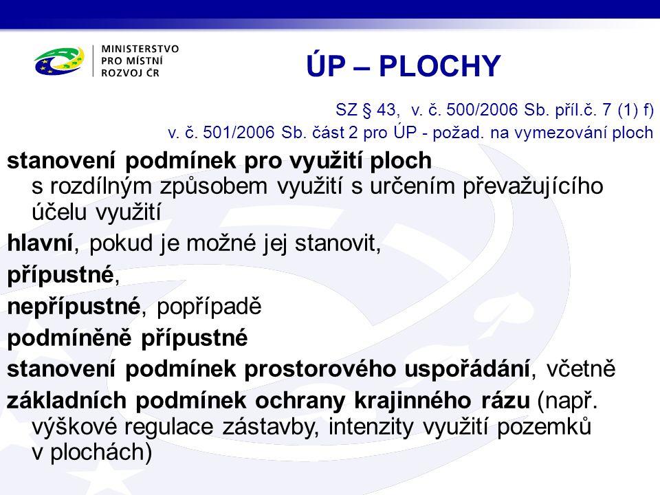 SZ § 43, v. č. 500/2006 Sb. příl.č. 7 (1) f) v.