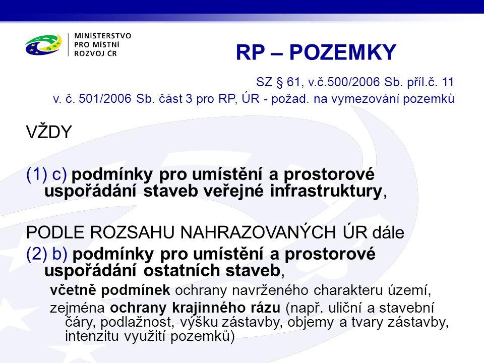 SZ § 61, v.č.500/2006 Sb. příl.č. 11 v. č. 501/2006 Sb.