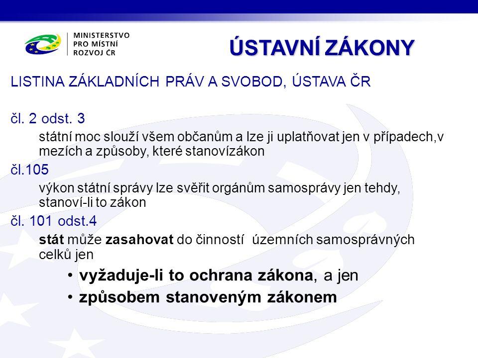 LISTINA ZÁKLADNÍCH PRÁV A SVOBOD, ÚSTAVA ČR čl. 2 odst.