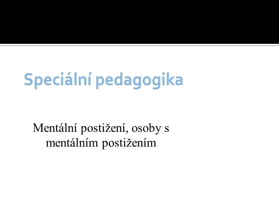 Mentální postižení, osoby s mentálním postižením
