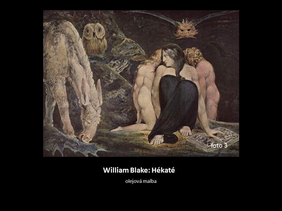William Blake: Hékaté olejová malba foto 3