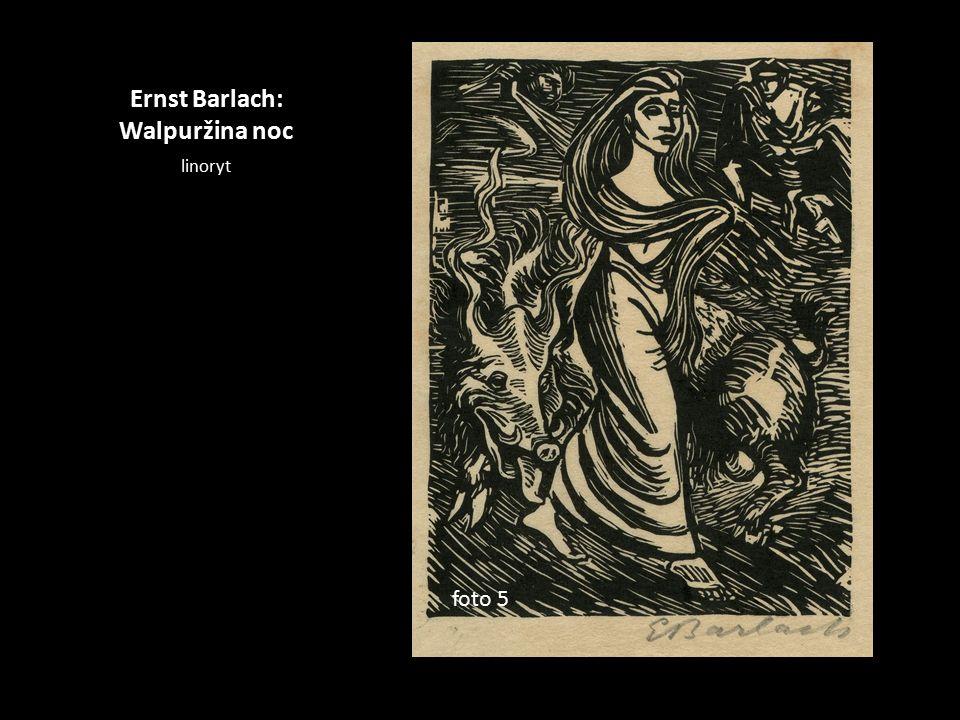 Ernst Barlach: Walpuržina noc linoryt foto 5