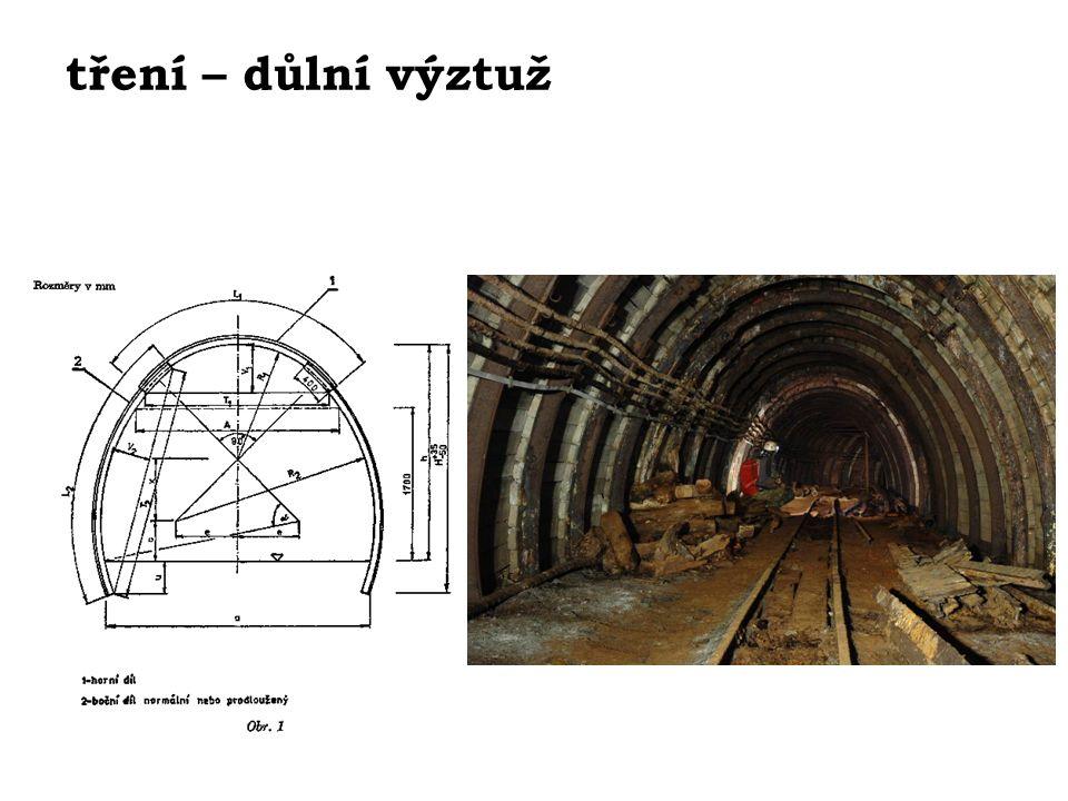 tření – důlní výztuž