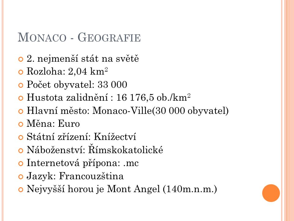 M ONACO - G EOGRAFIE 2.
