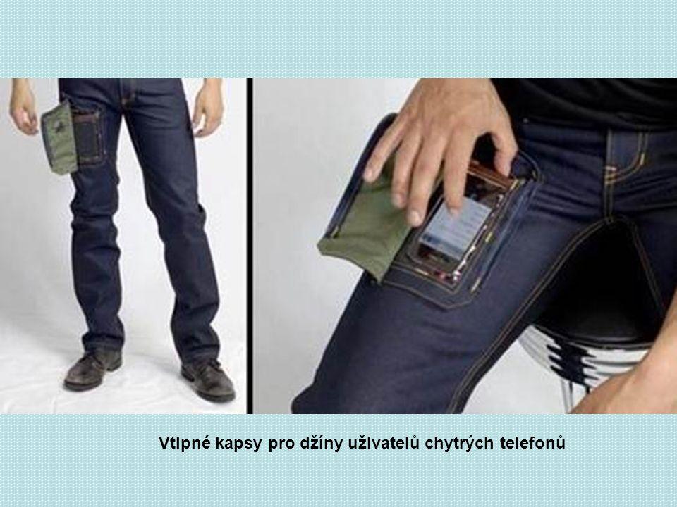 Vtipné kapsy pro džíny uživatelů chytrých telefonů