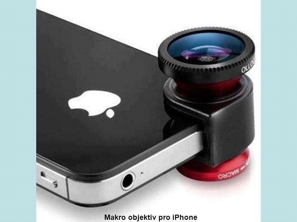 Makro objektiv pro iPhone