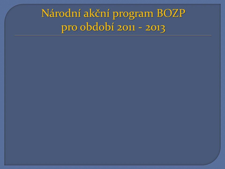 Národní akční program BOZP pro období 2011 - 2013
