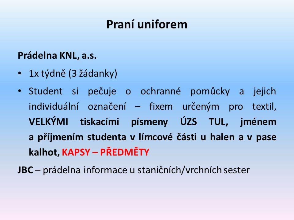Praní uniforem Prádelna KNL, a.s.