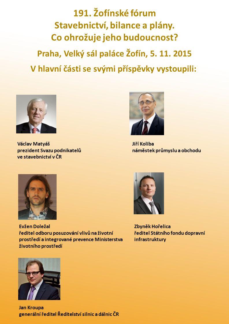 Mediální partneři 191.ŽF informují SPS: Hodnota stavební produkce vzroste na 470 mld.