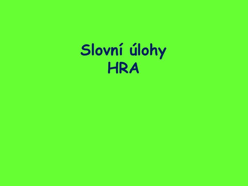 Slovní úlohy HRA