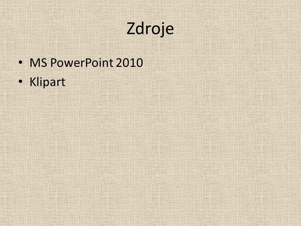 Zdroje MS PowerPoint 2010 Klipart