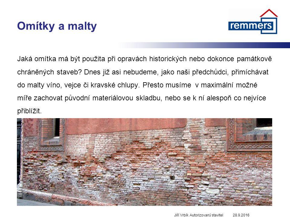 Omítky a malty Jaká omítka má být použita při opravách historických nebo dokonce památkově chráněných staveb.