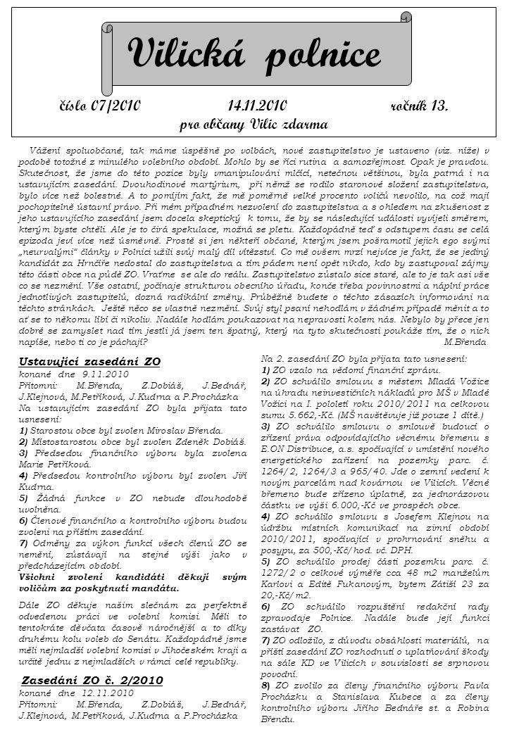 Vilická polnice č íslo 07/2010 14.11.2010 ro č ník 13.