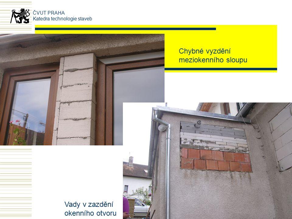 OMÍTKY- PORUCHY tvorba trhlin v místě okenních otvorů