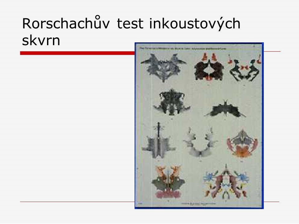 Rorschachův test inkoustových skvrn