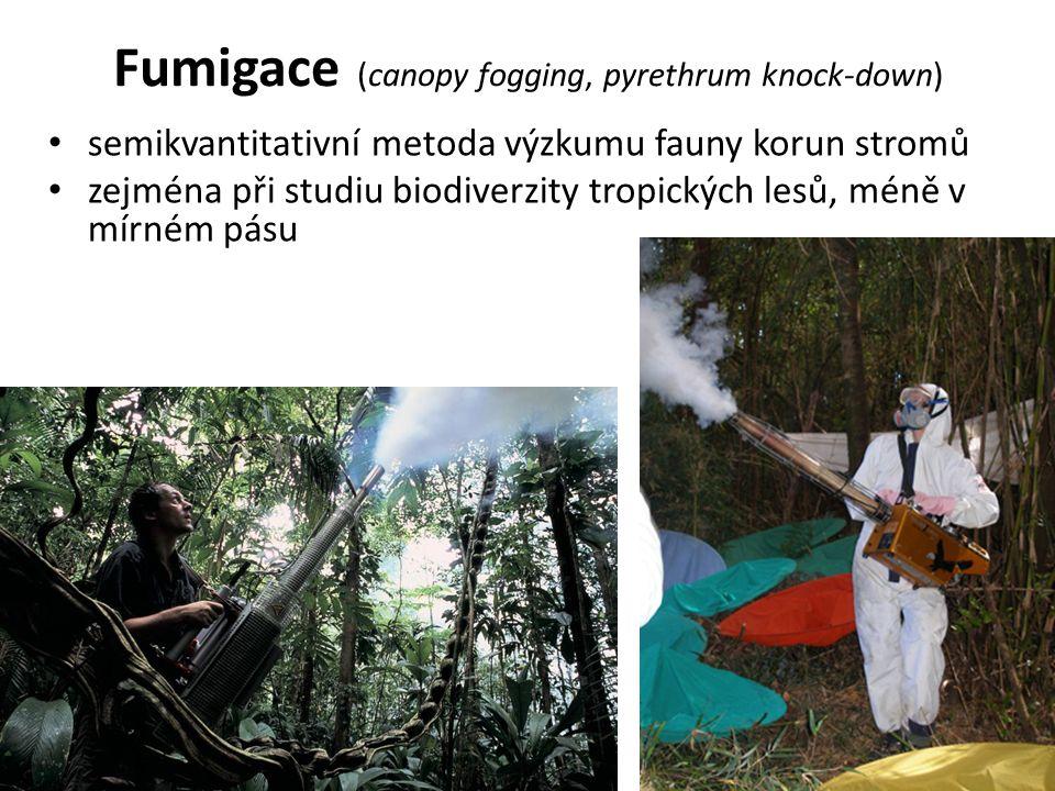 Fumigace (canopy fogging, pyrethrum knock-down) semikvantitativní metoda výzkumu fauny korun stromů zejména při studiu biodiverzity tropických lesů, méně v mírném pásu