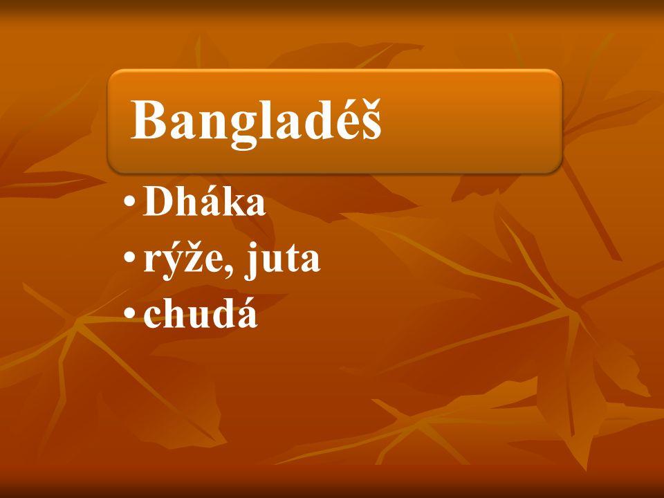 Bangladéš Dháka rýže, juta chudá