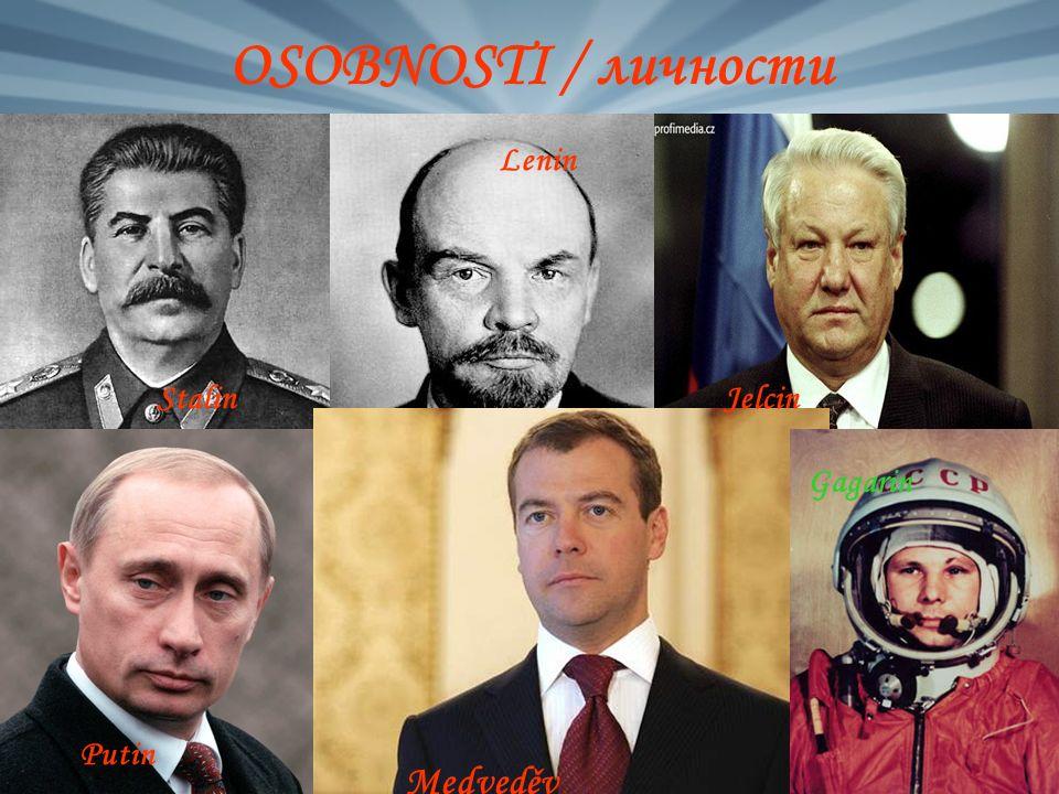 OSOBNOSTI / личности Stalin Lenin Jelcin Putin Medveděv Gagarin