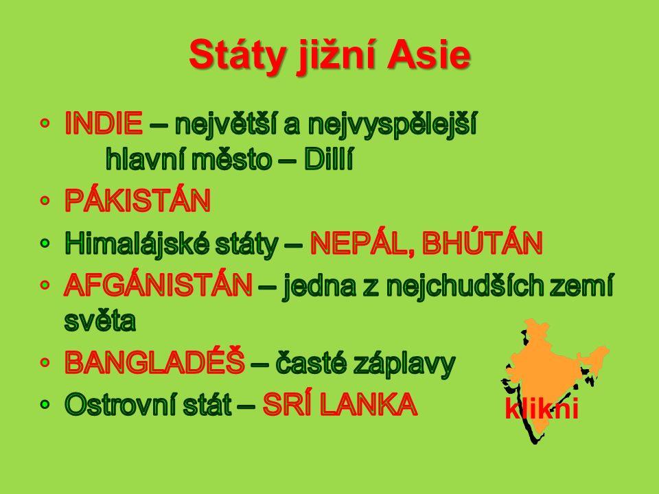 Státy jižní Asie klikni
