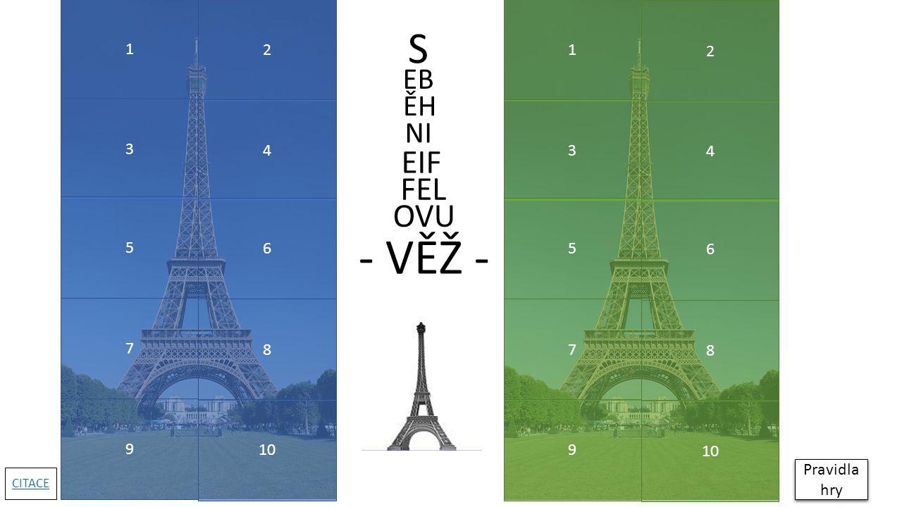1 ZPĚT Která fotografie nebyla pořízena v Paříži.