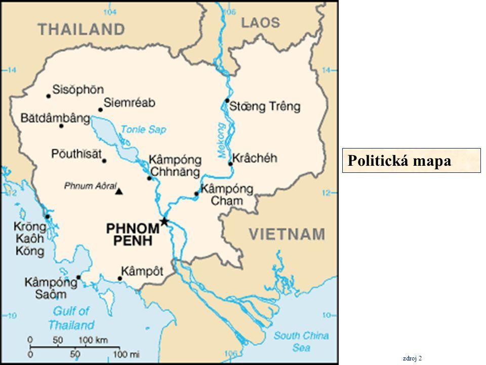Silniční doprava silniční síť měří 38 100 km, ale jen 3 000 km jsou cesty zpevněné cesty jsou celkově ve špatném stavu, ale v poslední době se investují peníze do jejich rekonstrukce v současnosti má většina hlavních cest pevných povrch silnice mají velký význam pro přepravu zahraničních turistů z Thajska do proslulého chrámového komplexu Angkor Wat