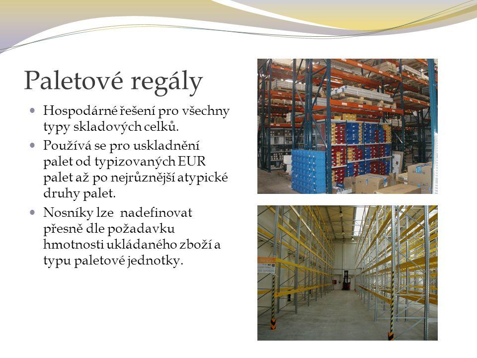 Regálové galerie Použitím regálových galerií se navyšuje kapacita skladu - skladová plocha se násobí počtem pater.