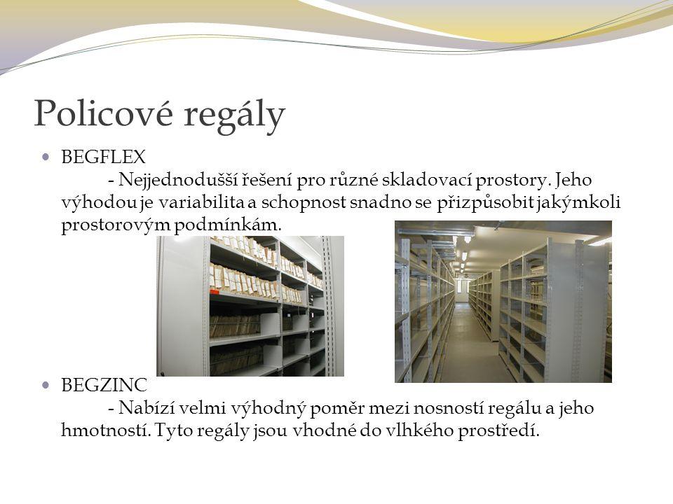 Policové regály BEGFLEX - Nejjednodušší řešení pro různé skladovací prostory.