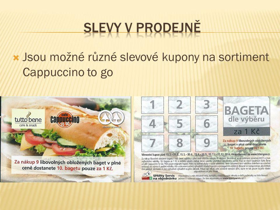  Jsou možné různé slevové kupony na sortiment Cappuccino to go