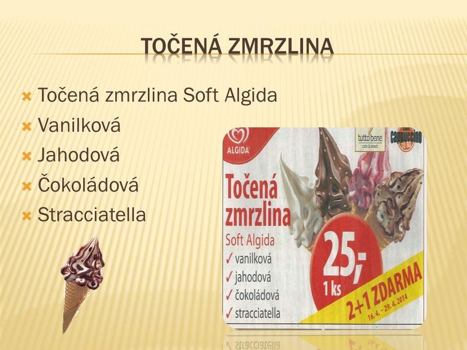  Točená zmrzlina Soft Algida  Vanilková  Jahodová  Čokoládová  Stracciatella
