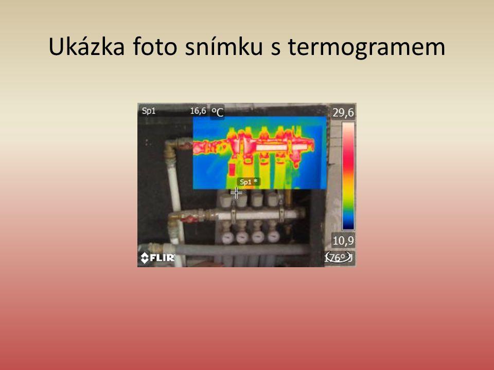 Ukázka foto snímku s termogramem