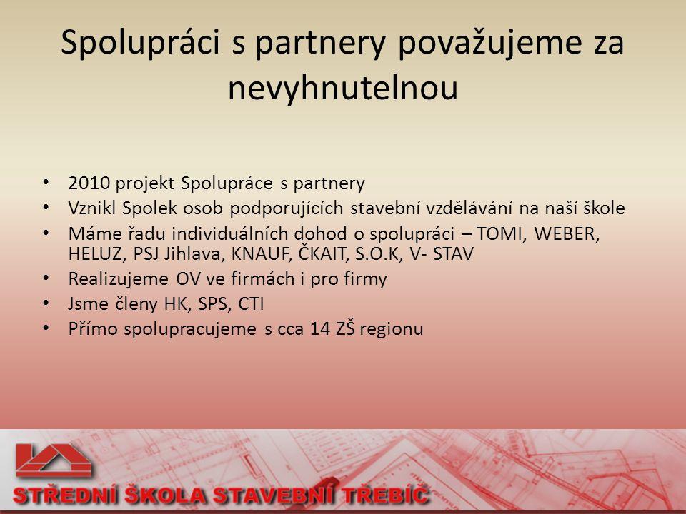 Příklady spolupráce Podíl odborníků na výuce – kurz PREFA výroby ve firmě S.O.K.