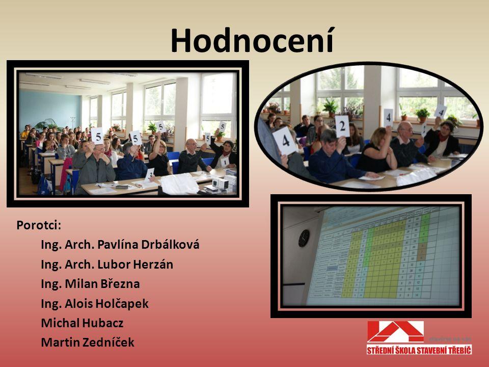 Porotci: Ing. Arch. Pavlína Drbálková Ing. Arch.