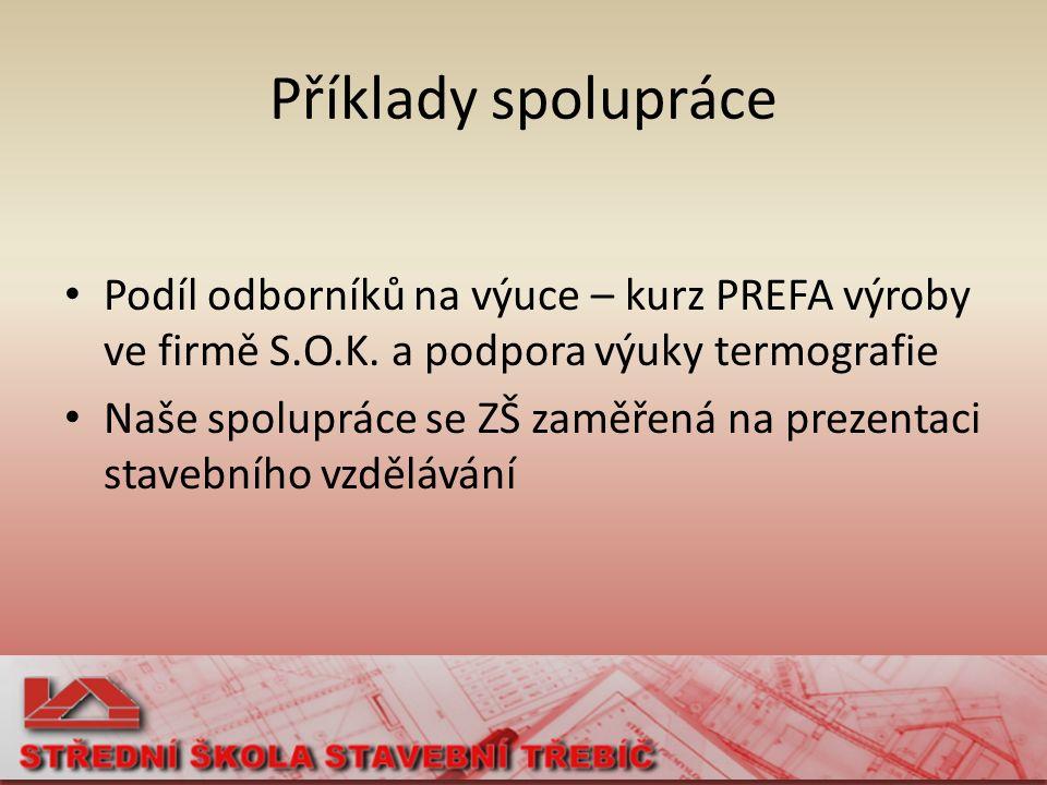 Kurz PREFA výroby Poděkování firmě S.O.K.stavební, s.