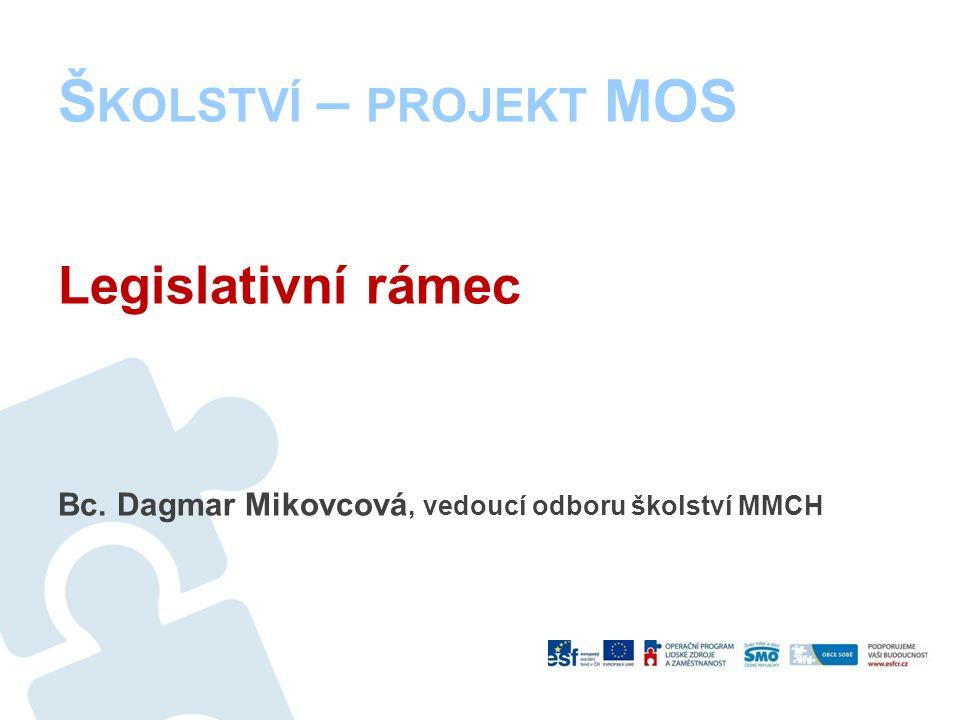 Legislativní rámec Bc. Dagmar Mikovcová, vedoucí odboru školství MMCH