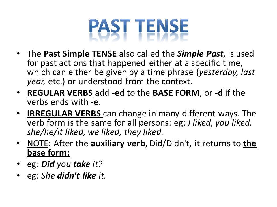 A/ to be BÝT B/ regular verbs PRAVIDELNÁ SLOVESA C/ Irregular verbs NEPRAVIDELNÁ SLOVESA + podmět was /were I was at home.