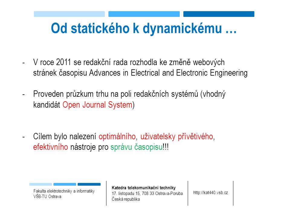 Fakulta elektrotechniky a informatiky VŠB-TU Ostrava Katedra telekomunikační techniky 17.