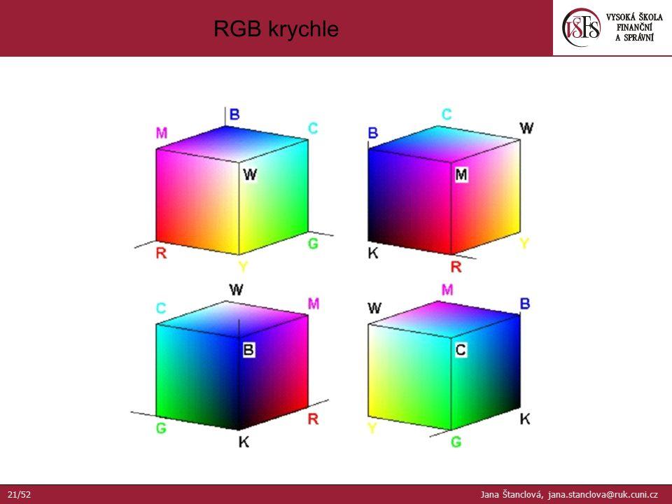 RGB krychle 21/52 Jana Štanclová, jana.stanclova@ruk.cuni.cz