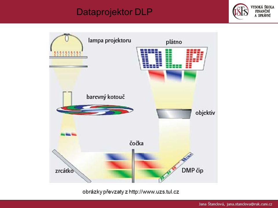 Dataprojektor DLP obrázky převzaty z http://www.uzs.tul.cz Jana Štanclová, jana.stanclova@ruk.cuni.cz